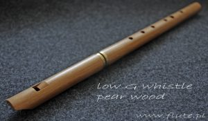 low G whistle pear wood tuneable